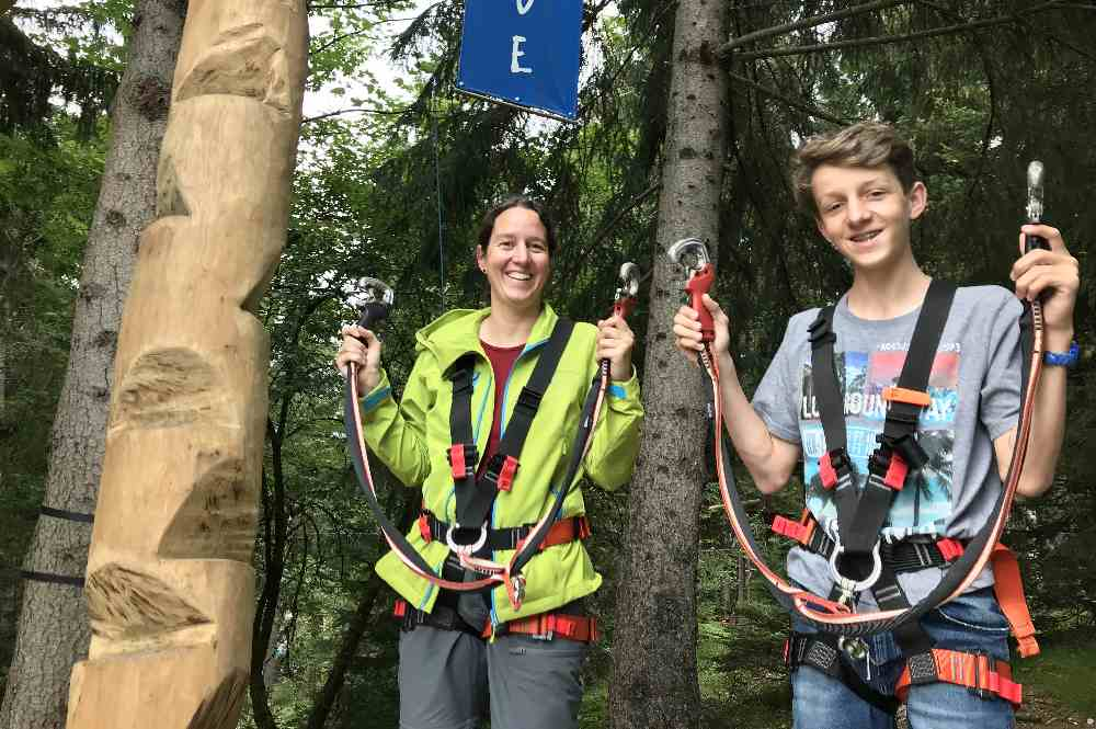 Ausflugsziele Deutschland mit Kindern -  in den Kletterwald Garmisch Partenkirchen