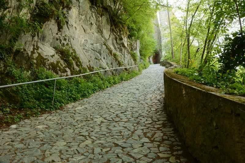 Das letzte Stück der Kloster Säben Wanderung in Südtirol führt hier hinauf