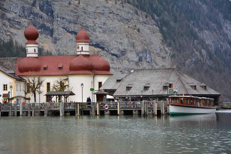 Königssee mit Kindern: Bootsanlegestelle St. Bartholomä