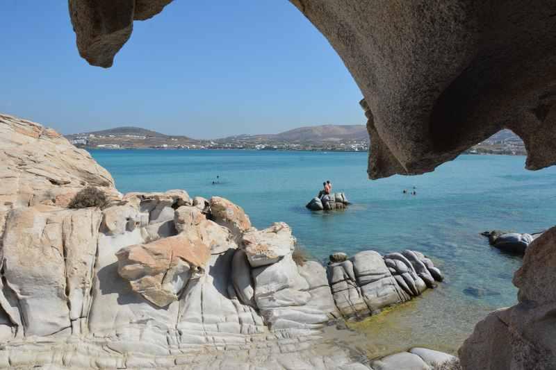 Der  Kolymbithres - ein Strand als Ausflugsziel in Paros