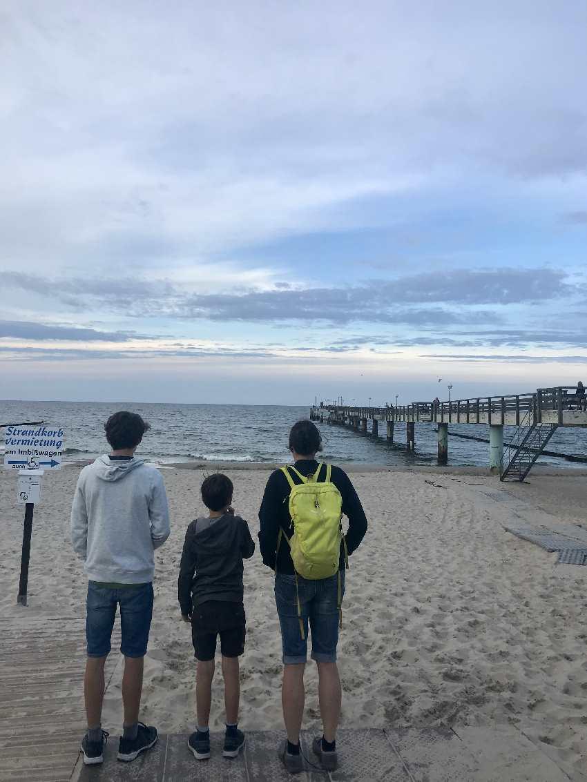 Unser Strandspaziergang am Koserow Strand