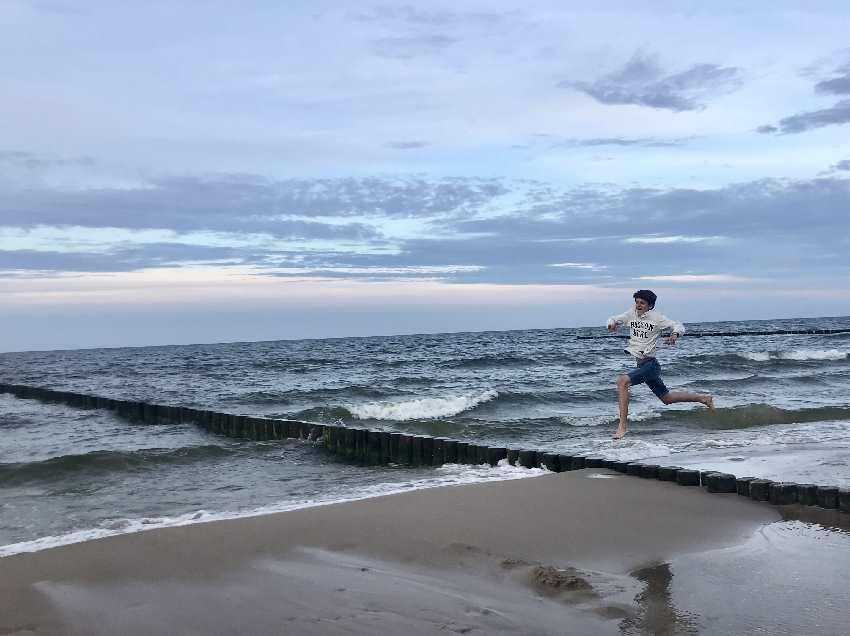 ... toben und laufen am Usedom Strand in Koserow