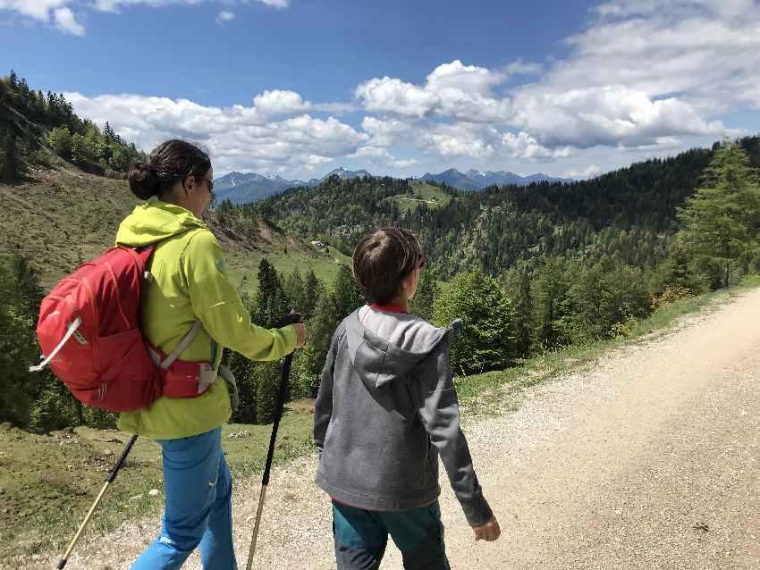 Kufstein wandern mit Kindern - sehr aussichtsreich im Kaisergebirge