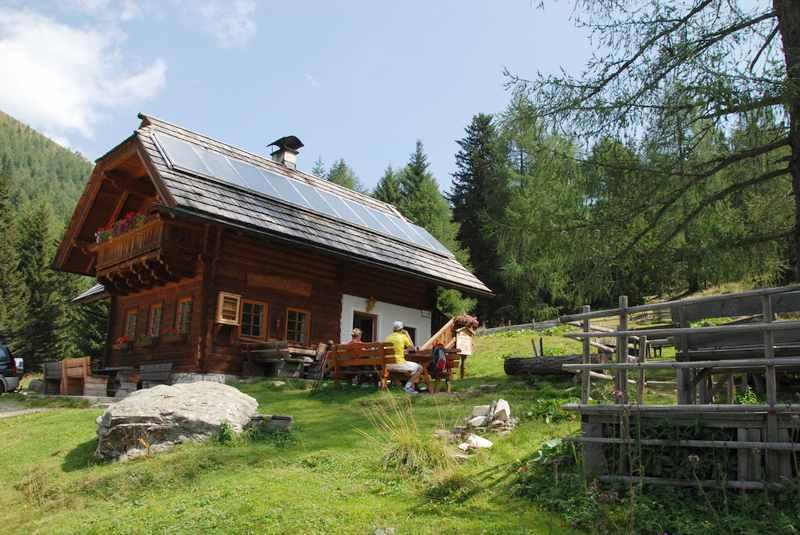 Die Lärchenhütte in Bad Kleinkirchheim ist das Ziel unserer Wanderung mit Kindern in Kärnten