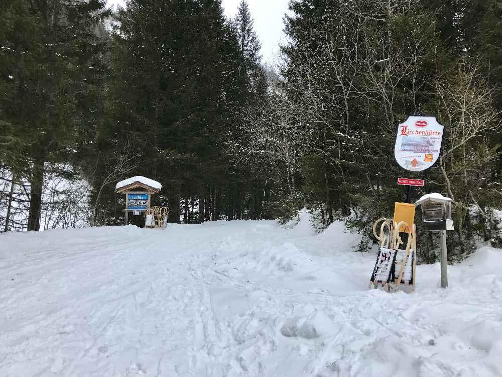 Hier beginnt die Rodelbahn Bad Kleinkirchheim hinauf in die Nockberge in Kärnten
