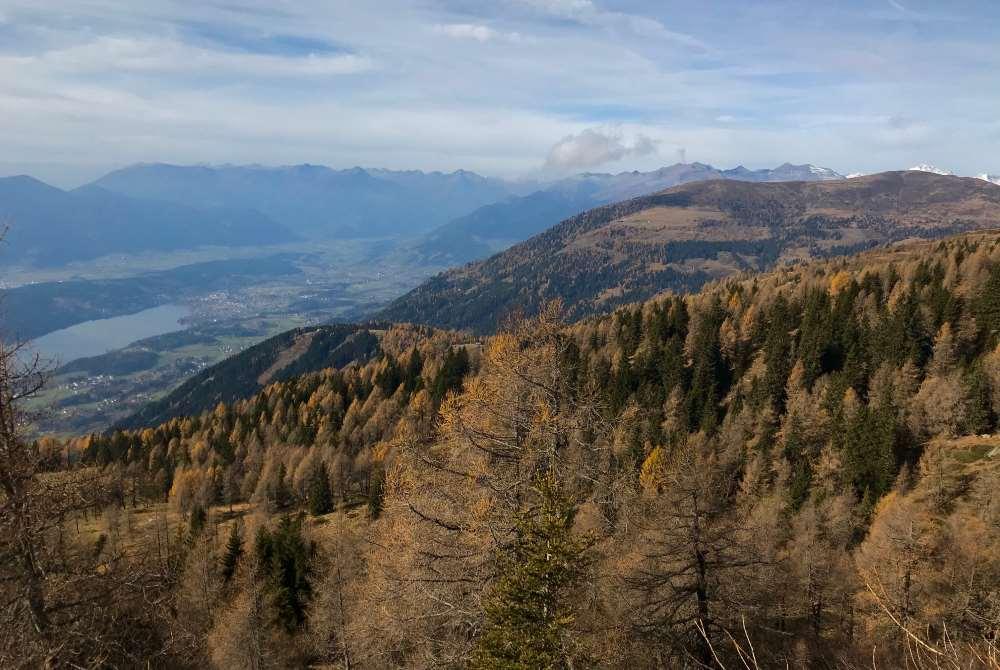 So schön ist im Herbst die Aussicht vom Lammersdorfer Kreuz