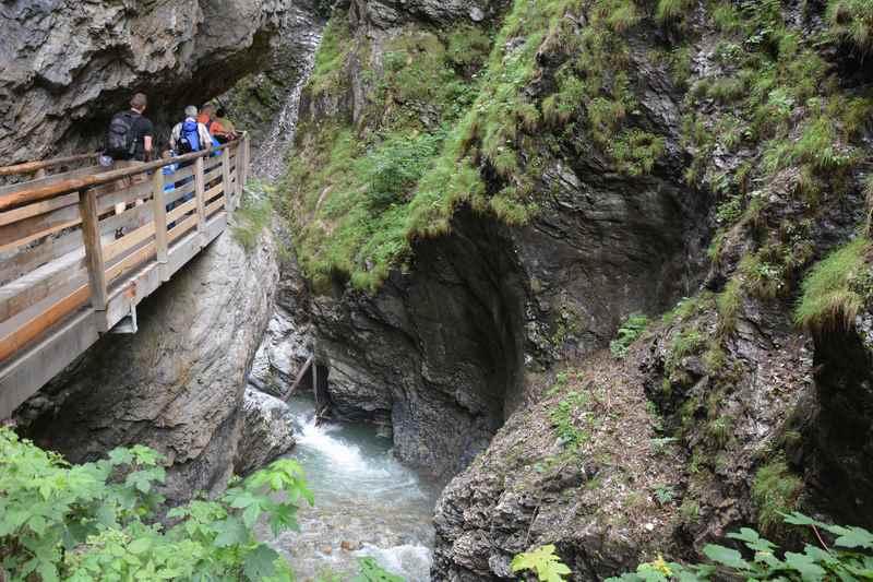 Eine der bekanntesten Klammen im Salzburger Land: Die Liechtensteinklamm