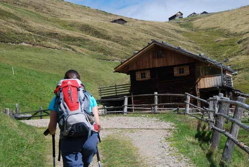 Auf der Lüsner Alm wandern mit Kindern bei Brixen