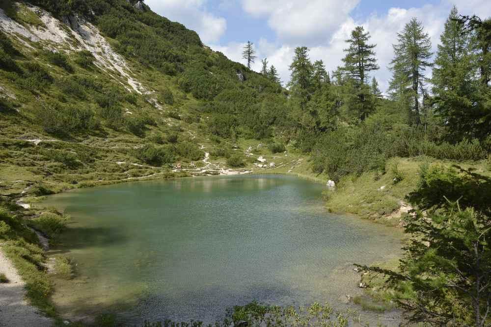 Der abseits gelegene Märchensee mit glasklarem und kalten Bergwasser