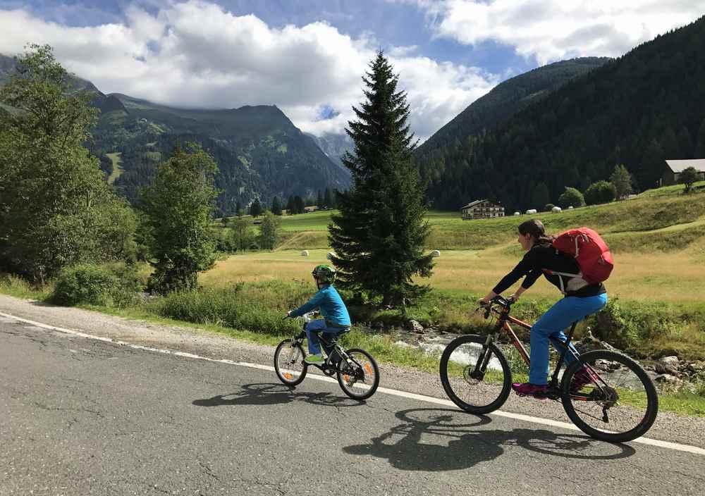 Geht gut zum Radfahren mit Kindern - von Mallnitz durch das Seebachtal zum Stappitzer See