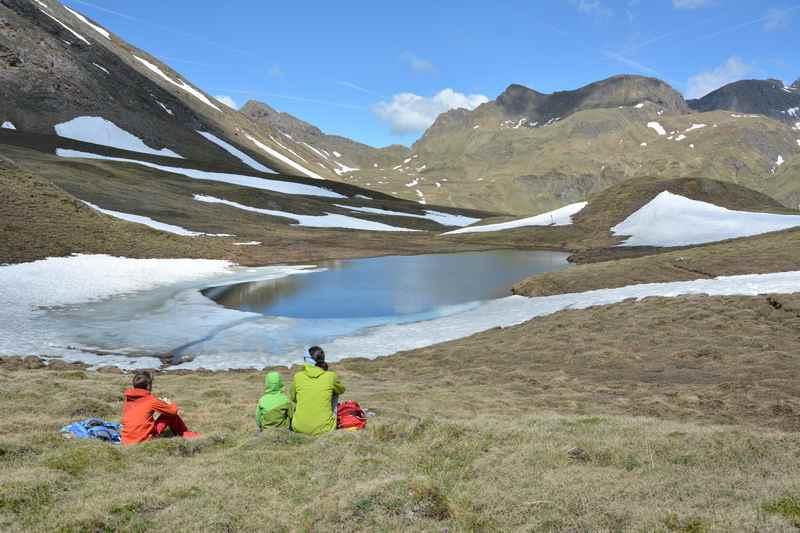 Unser Wanderziel: Der Marblsee in Südtirol