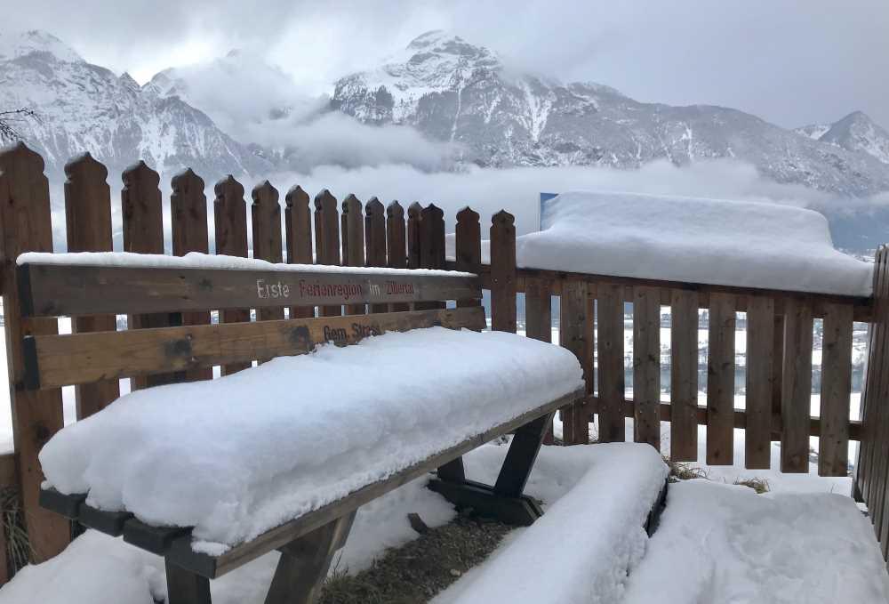 Der obere Aussichtspunkt bei Maria Brettfall im Zillertal