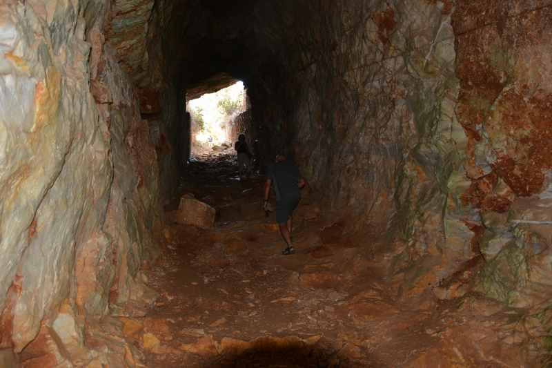 Im Marmorstollen auf der Insel Paros, Kykladen Griechenland