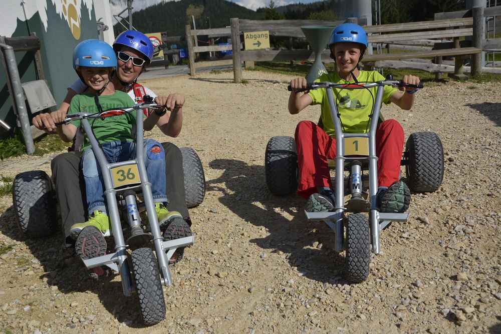 Wilder Berg Mautern:Genauso viel Spaß bietet das Mountain Cart von der Mittelstation bis nach Mautern im Tal
