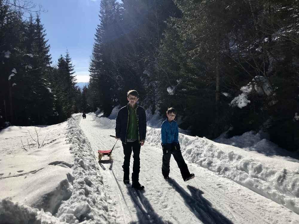 Aufstieg zur Schwaigerhütte - den Kindern gefällt´s auch!