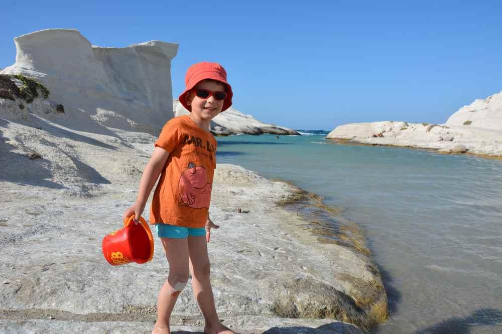 Hier am Sarakiniko Strand in Milos