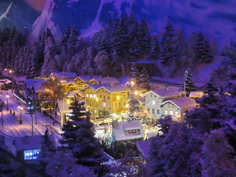 Auch der Winter von Tirol ist im Miniatur Tirolerland Wien zu sehen, Foto: Tirolerland Wien