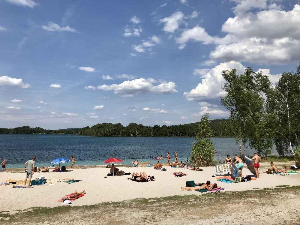Der Murner See in der Oberpfalz - mit Sandstrand