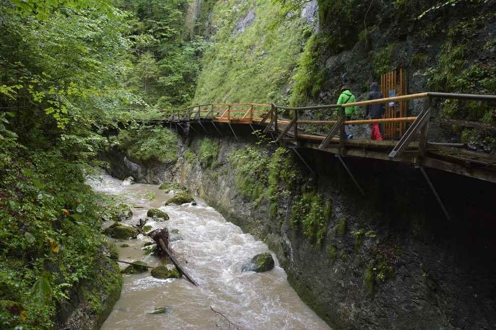 Der Einstieg in das Naturdenkmal Nothklamm bei Admont im Naturpark Eisenwurzen