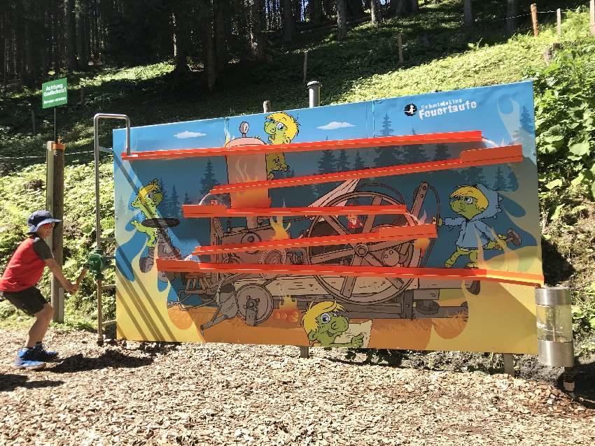 Eine der Spielstationen bei Schmidolin´s Feuertaufe auf der Schmittenhöhe in Zell am See