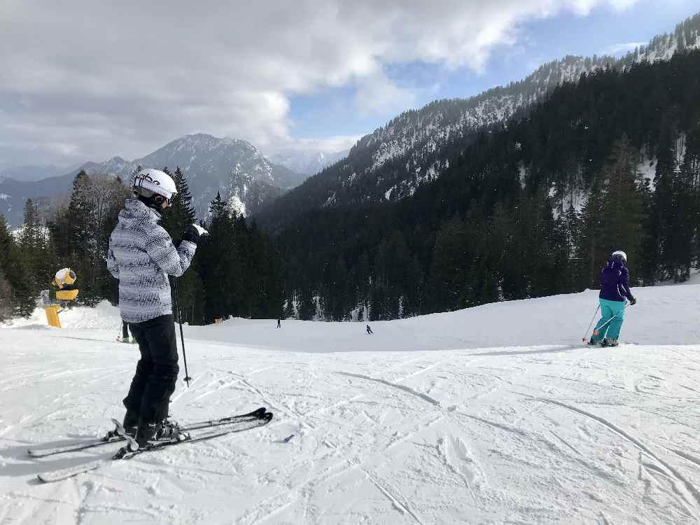 Skigebiet Oberammergau: das ist die Skipiste unterhalb der Kolbensattelhütte