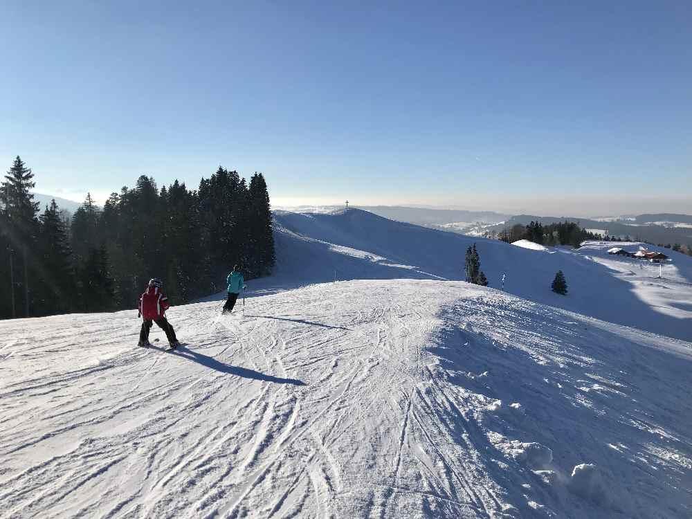 Hündle Oberstaufen: Super Ausblick beim Skifahren