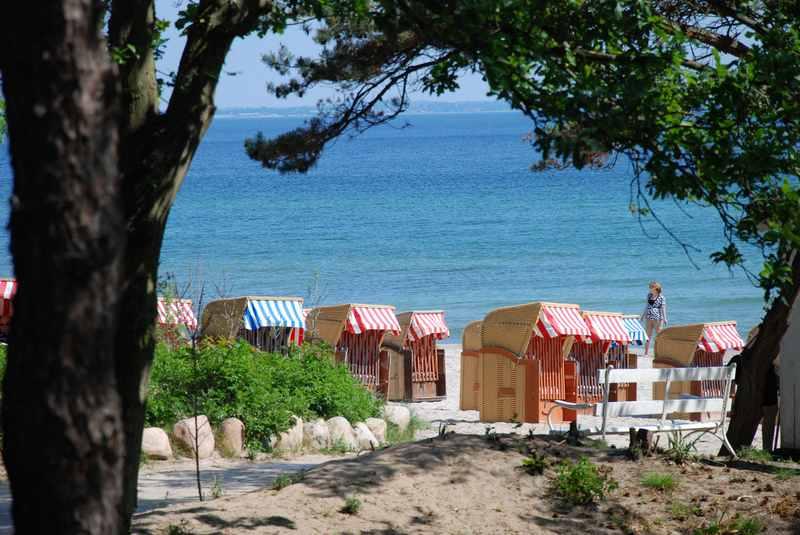 Familienurlaub Ostsee mit Strandkorb und Düne