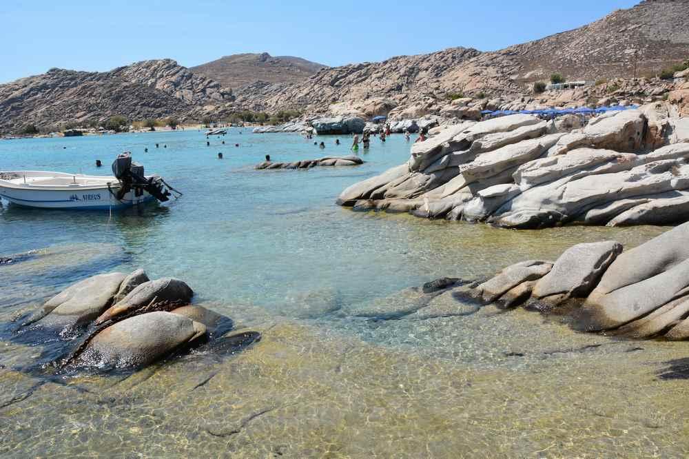 Unser Ausflug an einen der schönen Strände in Paros - der Kolimbithres Strand