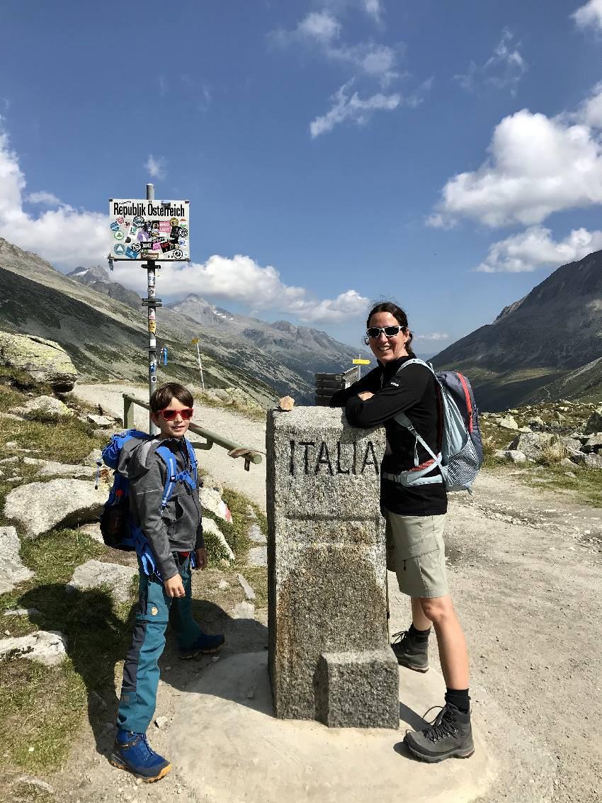 Unser Foto an der Grenze zwischen Südtirol und Tirol am Pfitscher Joch