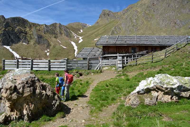 In den Pfunderer Bergen wandern mit Kindern