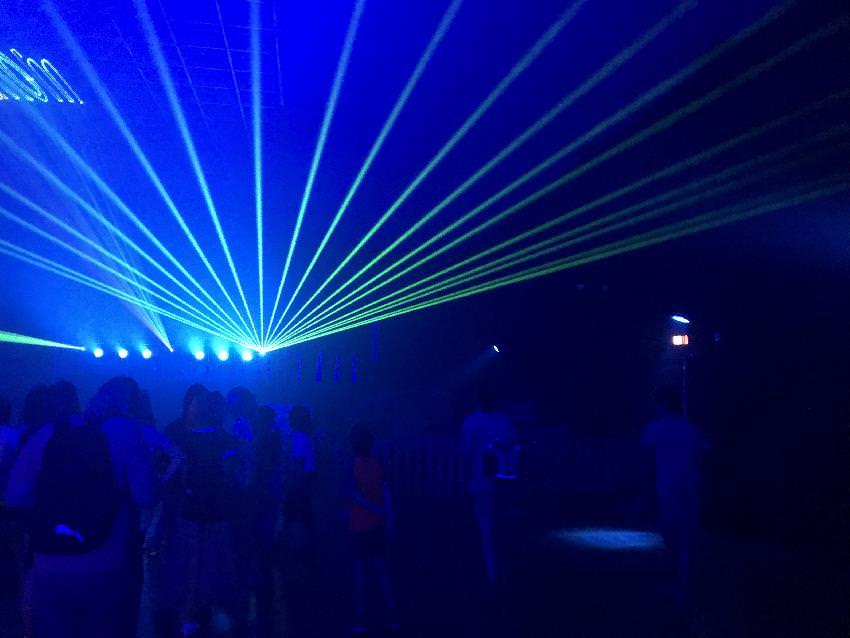 Das ist die Lasershow im Phänomenta