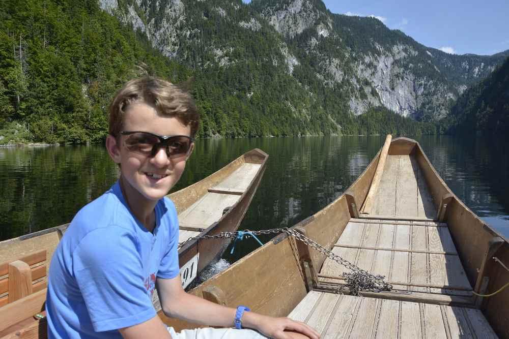 Drei Seen Tour: Unsere Fahrt mit der Plätte über den Toplitzsee im Salzkammergut
