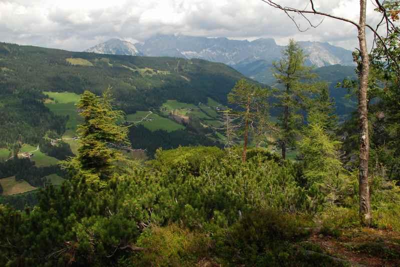 Mit toller Aussicht auf das Dachsteingebirge beim Radstadt wandern mit Kindern