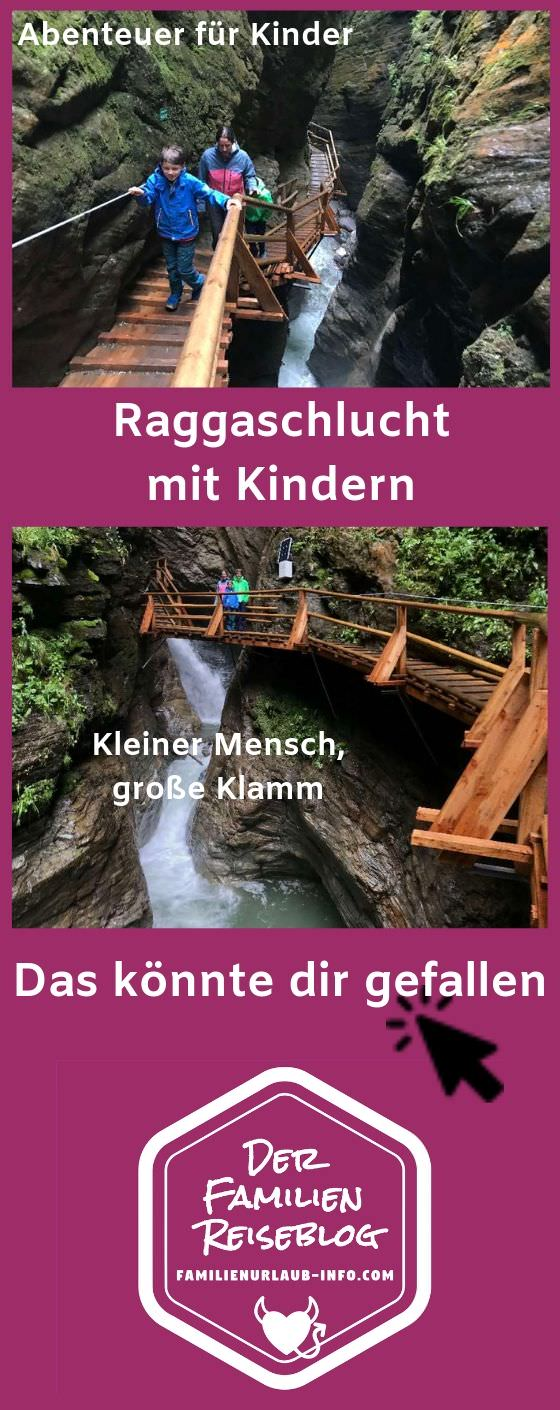 Klamm Kärnten: Die Raggaschlucht. Merk dir den Pin für deine Urlaubsplanung!