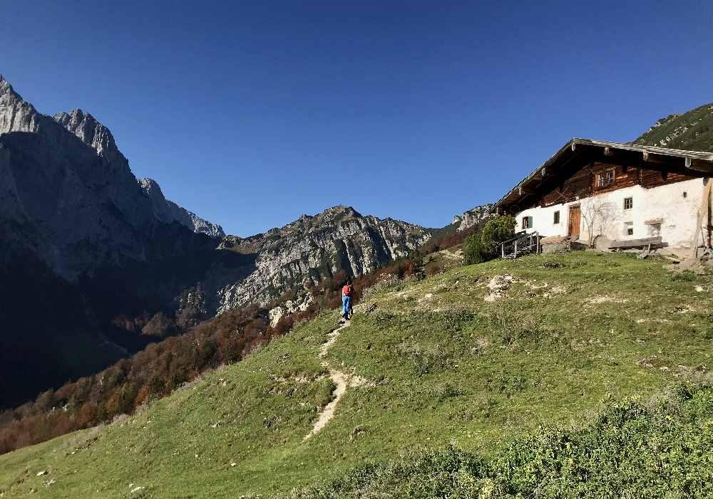 Die letzten Meter zur Hütte der Ranggenalm