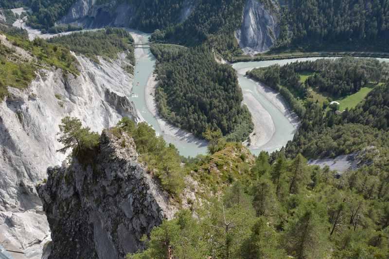 Die Rheinschlucht - bekannte Schlucht in der Schweiz