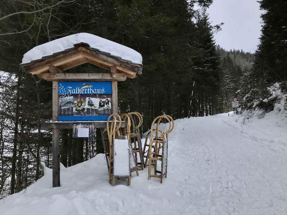 Rodelbahn Bad Kleinkirchheim - in St. Oswald zum Falkrthaus oder Lärchenhütte