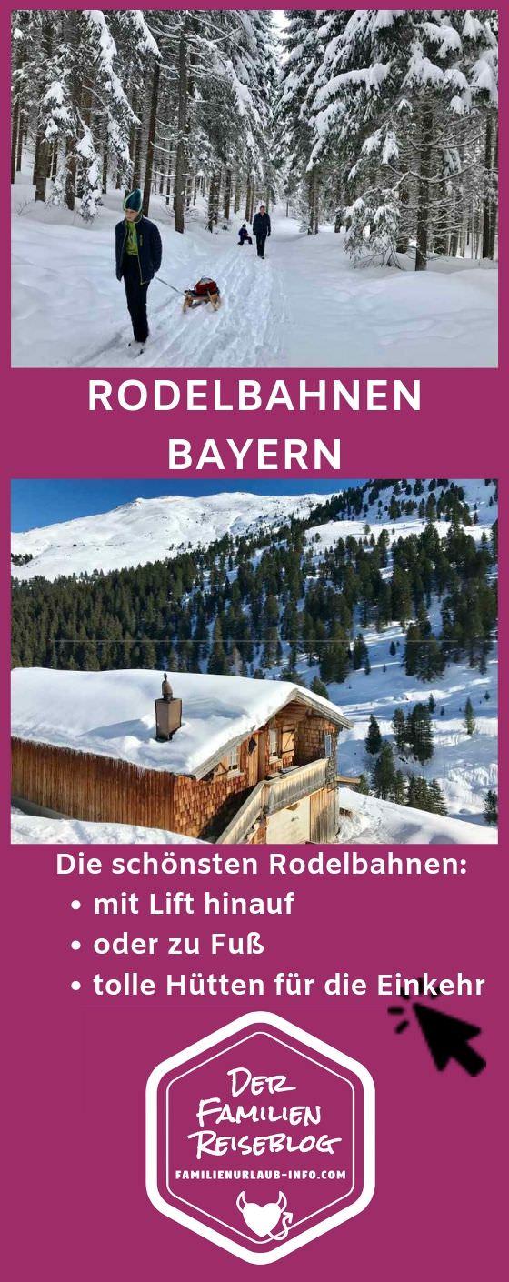 Rodelbahn Bayern merken - mit diesem Pin auf Pinterest findest du diese Bahnen wieder, wenn du in Bayern Schlittenfahren willst.