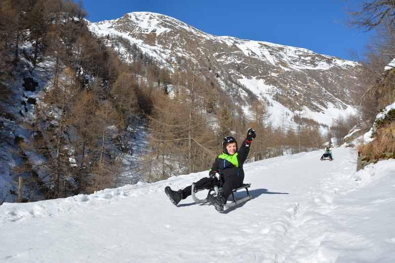 Rodelbahn Fane Alm: Von der Fane Alm rodeln mit Kindern in Südtirol