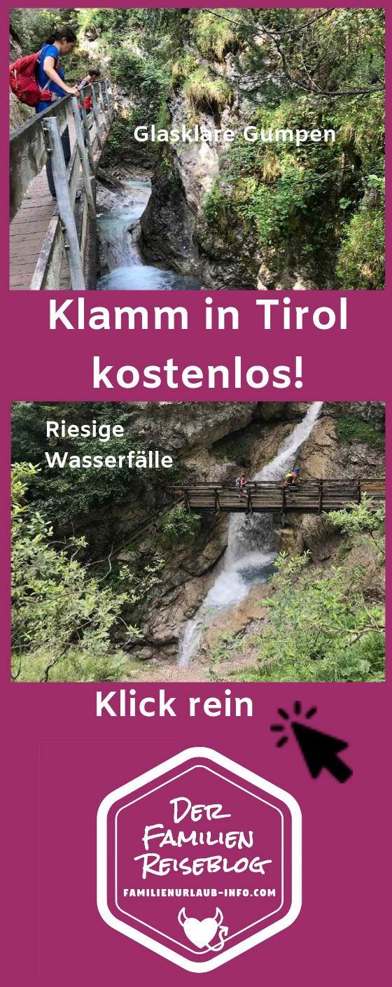 Traumhaft schöne Klamm Tirol - und kostenlos! Die Rosengartenschlucht