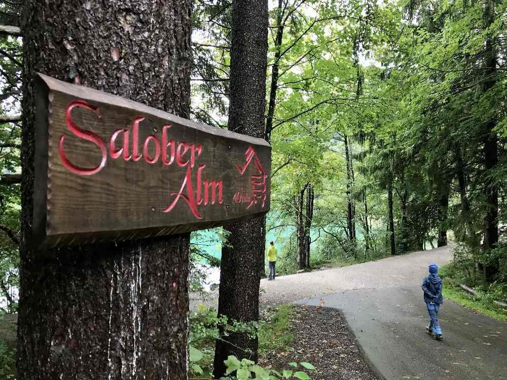 Am Alatsee entlang zur Salober Alm wandern mit Kindern