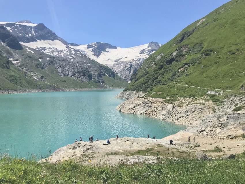 Wandern mit Kindern Salzburger Land: Der Mooserboden. Der höchstgelegene der Kaprun Stauseen
