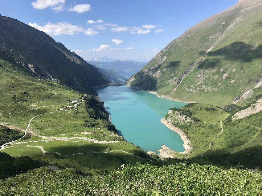 Unser Salzburger Land Ausflug mit Kindern mit Blick vom Mooserboden auf den Wasserfallboden