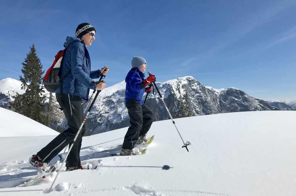 Schneeschuhwandern Loser: So genial war es zum Schneeschuhwandern mit Kindern