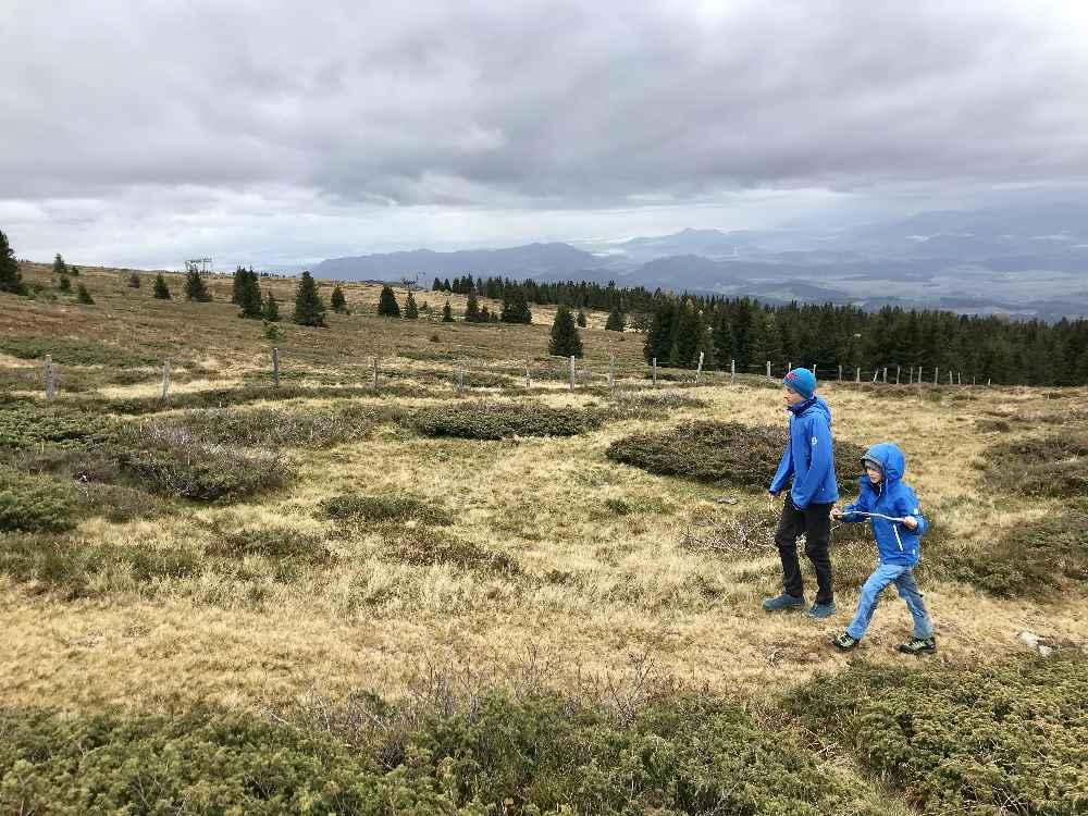 So schön zum Wandern - auf der Saualpe mit Kindern im Herbsturlaub in Kärnten