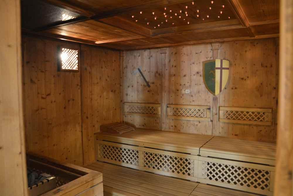 Eine der vielen Saunen im Hotel Dilly Windischgarten