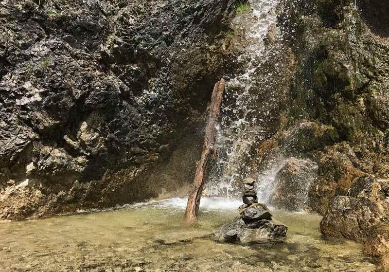 Der Wasserfall bei der Schalmeiklamm war aber auch sehr schön beim wandern mit Kindern
