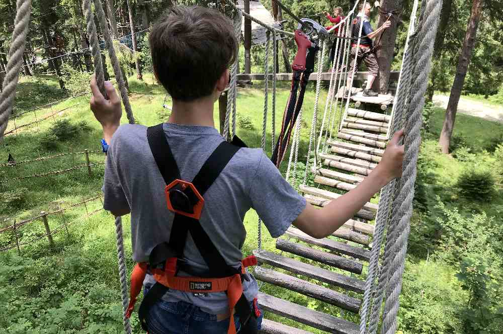 Toller Hitze Ausflug in Deutschland mit Kindern: Kletterwald Garmisch Partenkirchen