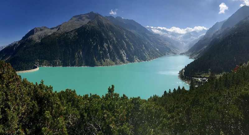 Ausflug bei Hitze:  Ein Traum weit oben - der Schlegeisspeicher im Zillertal.