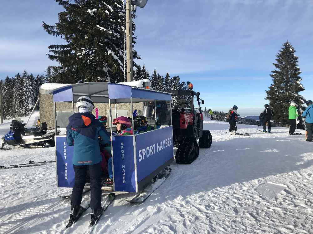 Steibis Skigebiet mit Schneetaxi für die Kleinsten